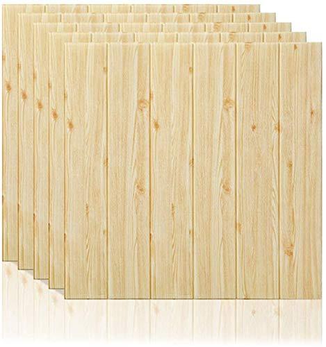 Carta da Parati 3D Mattoni 12PCS, Rimovibile Fai da te Art Disegno Tridimensionale Mattoni Carta da Parati, Adesivo 3d Muro Di Mattoni PE Foam pannelli per Camera da Letto Soggiorno TV Décor, 60X60CM