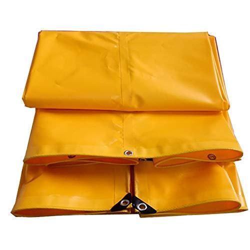 Preisvergleich Produktbild WDXJ Verdicken Sie Wasserdichte Hochleistungsplane-Plane-Boden-Blatt-... Schatten-Tuch im Freien - Gelb,  650G / M² (größe : 3x4m)