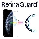 RetinaGuard iPhone 11 Pro 5.8インチアンチブルーライト強化ガラススクリーンプロテクター(透明)、SGSとIntertekテスト済み、過度の有害なブルーライトをブロック、目の疲れや目の疲れを軽減。