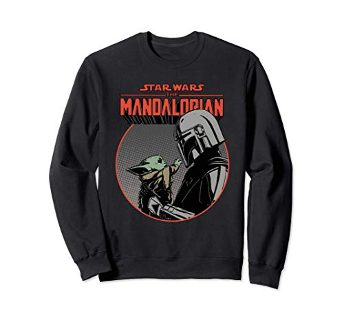 Star Wars The Mandalorian Mando and the Child Retro Felpa