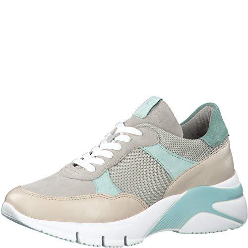 Tamaris Damen Schnürhalbschuhe 23712-34, Frauen sportlicher Schnürer, lose Einlage, Ugly-Sneaker dad-Shoe weibliche,Antelope Comb,39 EU / 5.5 UK