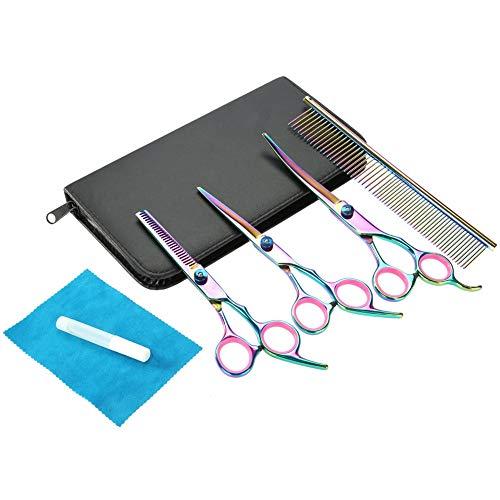 Cisaille courbée, ciseaux de coupe de cheveux durables, maison d'animalerie pour le coiffeur pour le salon