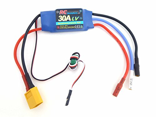 30A RC Brushless Motor Electric Speed Controller ESC 3A UBEC with XT60 & 3.5mm bullet plugs