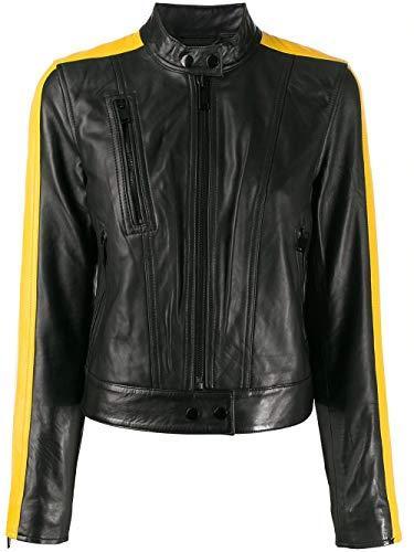 Michael Kors Luxury Fashion Damen MH92J458RK001 Schwarz Leder Jacke | Frühling Sommer 20