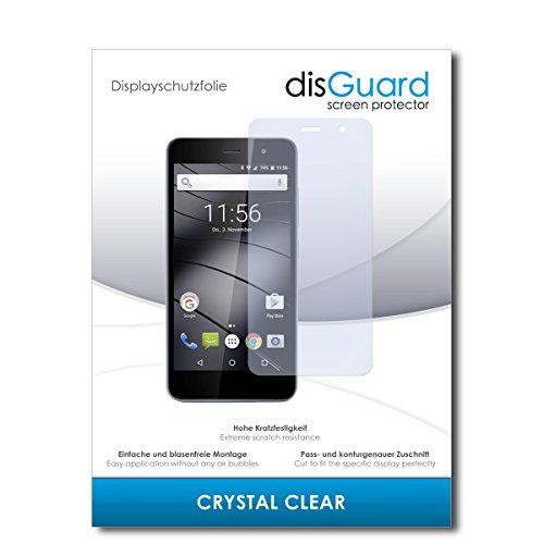 disGuard® Bildschirmschutzfolie [Crystal Clear] kompatibel mit Gigaset GS160 [2 Stück] Kristallklar, Transparent, Unsichtbar, Extrem Kratzfest, Anti-Fingerabdruck - Panzerglas Folie, Schutzfolie