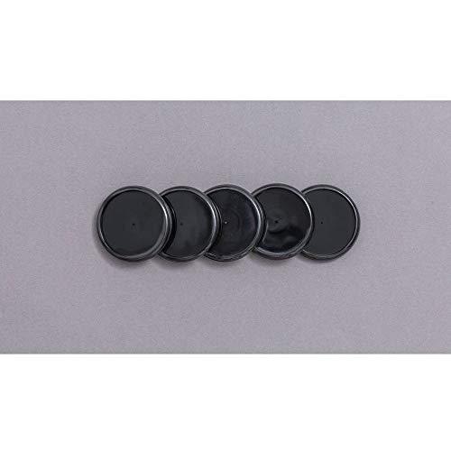 Discos Para Caderno Inteligente, Grande, 31 mm, Preto, Com 12 Unidades