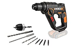 3 tools in 1 - drill, driver & pneumatic hammer The most convenient tool in its Class for fatigue-free working Compact Design and light weight Powershare 20V battery is interchangeable with other 20V WORX tools
