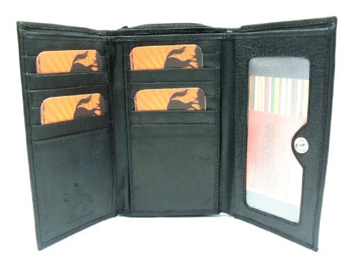 Emporium Leather Femmes Designer Cuir Noir Sac à Main par Ranger 1201