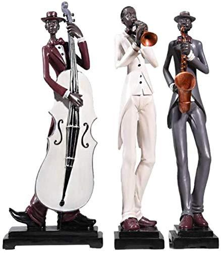SERBHN Musiker Cello Saxophon Mit Weiß Cello, Ornament Für Wohnzimmerwandregal, Leseecke, Schreibtisch