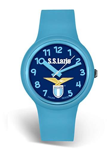 Orologio da polso in silicone celeste - Lowell - Ufficiale Ss Lazio - 34mm - orologio con scatola