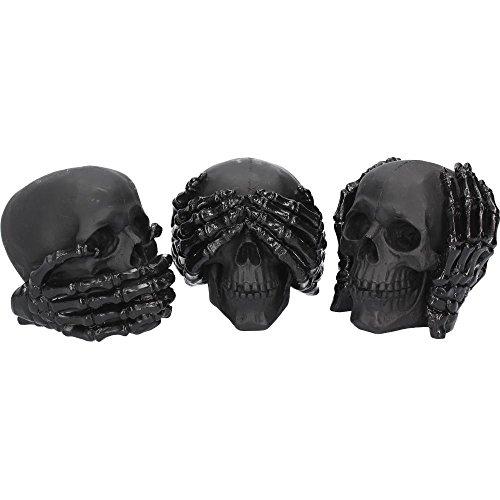 Nemesis Now Dark See No Hear No Speak No Evil Skulls Figur 45 cm schwarz