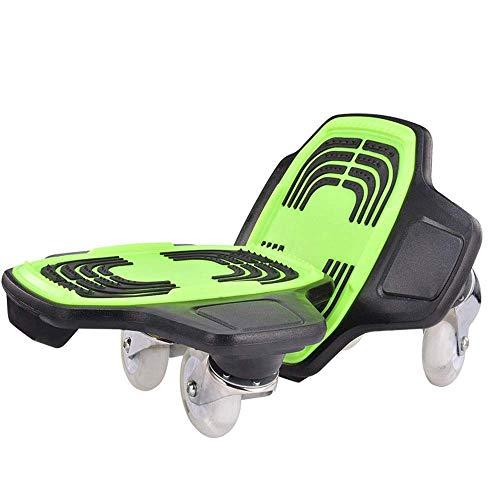 H.yina-Fitness Equipment Durevole Split Skateboard a Due Ruote Skateboard Vitality Board Pattinaggio Adulti Bambini Drift Board Double Dragon Board Antiscivolo (Colore: Verde, Dimensioni: 26 * 24 cm)