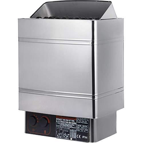 KAUTO Estufa Calentador de Sauna de 8KW 380V-415V Calentador de Sauna eléctrico...