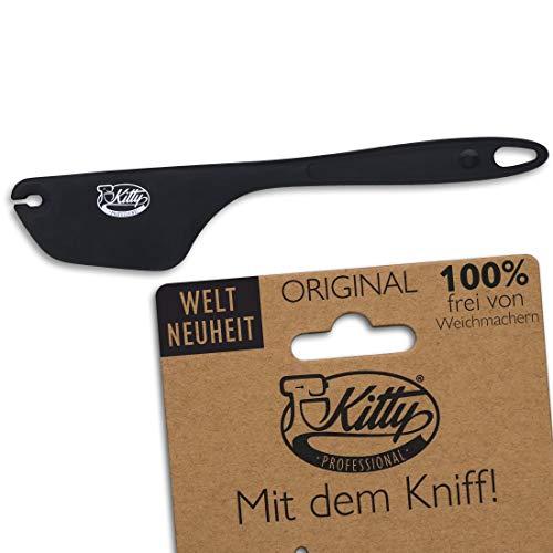 Kitty Professional Teigschaber 2in1 Teig Spatel Zubehör: Backzubehör Schüssel sauber abstreifen | XL Silikon Teigspachtel Teigschneider Küchenmaschine Rührschüssel Kochen Backen Hitzebeständig