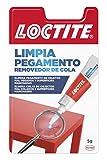 Loctite Limpia Pegamento, quita pegamento para corregir objetos mal pegados o despegar dedos, quita adhesivo para superficies manchadas o tinta, 1x5 g