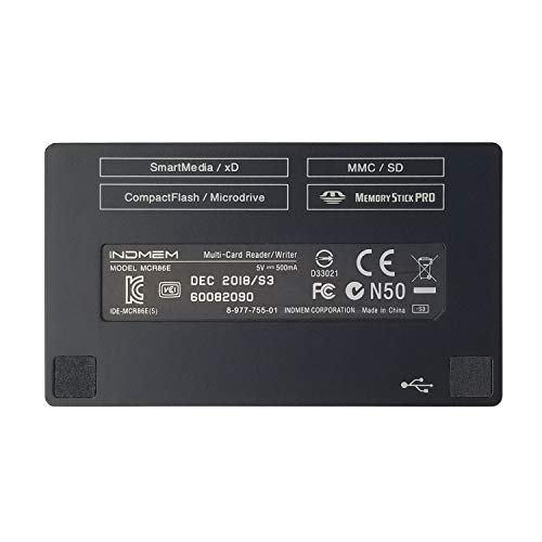 SmartMedia Card Reader Writer All-in-1 USB Universal Multi Card Adapter Slim Hub Read Smart Media, xD, SD, SDHC, SDXC, UHS-I, MMC, MS Pro Duo, CF, MD, Camera Flash Memory Cards For Windows, Mac, Linux