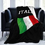 Italia Italy Italian Flag Flannel Fleece Throw Blankets for Bed Sofa Living Room Soft Blanket Warm Cozy Fluffy Throw Plush Blanket