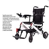WEHOLY Silla de Ruedas eléctrica Silla de Ruedas eléctrica Ancianos Discapacitados Coche Ancianos Inteligente Automático Portátil Scooter Plegable Multifuncional, 41 * 40 cm, 2