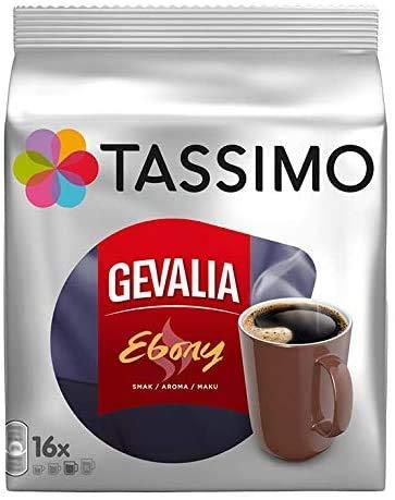 TASSIMO Gevalia Ebony Kaffee Kapseln Refills T Discs Pods 5er Pack, 80 Getränke