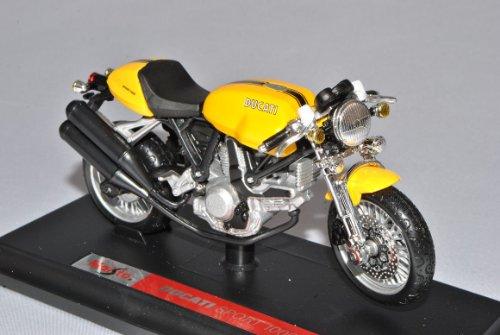 Maisto Ducati Sport 1000 Gelb Mit Sockel 1/18 Modell Motorrad