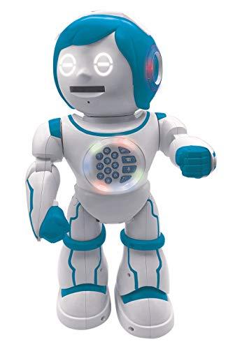 Lexibook ROB90DE Powerman Kid-Pädagogischer und zweisprachiger deutsch/englischer Roboter-Gehend Sprechend Tanzend Singendes Spielzeug-STEM Programmierbares Erzählen Erstellen von Geschichten
