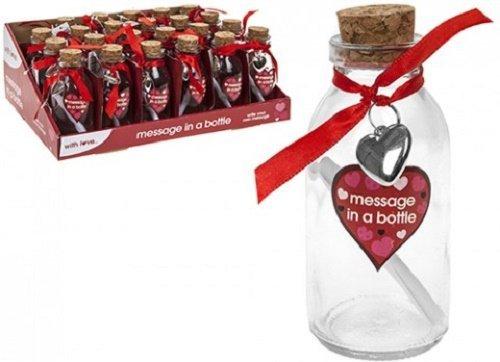 Flaschenpost mit Papier für die Nachricht, 11 cm, Perfekt für den Valentinstag