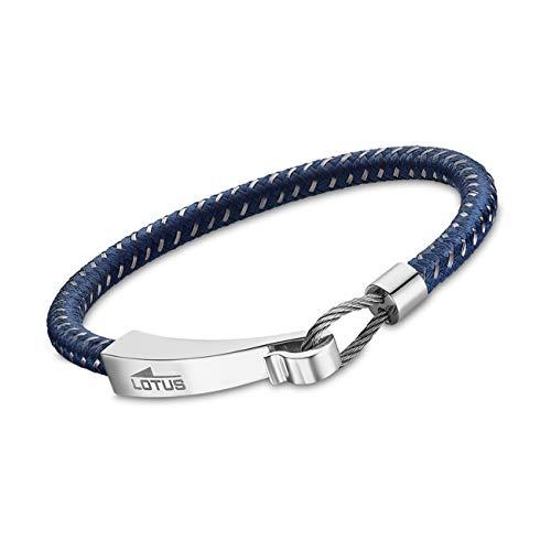 Lotus LS1977-2-3 JLS1977-2-3 Pulsera para hombre, de plástico, acero inoxidable, color azul y plateado