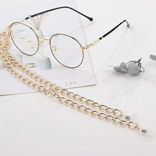 Gafas de Sol de Moda Mujeres Gafas de Sol Cadena Cordón Elagant para Mujeres/Hombres Moda Cordón clásico para Gafas Patrón Gafas de Sol Cadena Oro