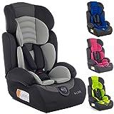 Kindersafety Kindersitz, Autositz, Kindersitz, Gruppe 1/2/3 9-36kg, 3-Punkt-Sicherheitsgurte, verstellbare Kopfstütze, ECE R44/04, N-Line, Modell KP0101GRY