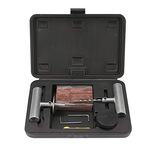 HRNAKDFKL Juego de reparación de neumáticos sin cámara de 37 Piezas, Juego de averías, Kit de reparación de neumáticos para Todos los Coches, reparación de neumáticos, Tiras de vulcanización