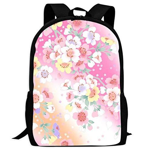 AOOEDM Zaino per laptop per studenti con motivo floreale bellissimo Zaino portatile da viaggio per il tempo libero di grande capacità Zaino multifunzionale per uomo e donna