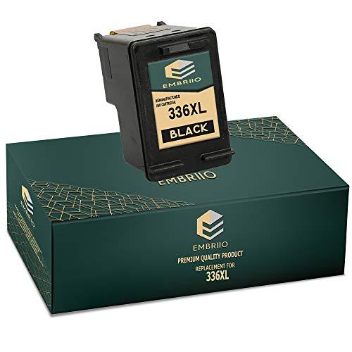 EMBRIIO 336 Negro Cartucho de Tinta Reemplazo para HP DeskJet 5420 5442 Officejet 6310 6315 Photosmart 2570 2575 C3100 C3180 C4180