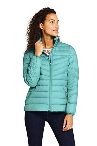 Lands' End Womens Ultralight Packable Down Jacket Meridian Blue Regular X-Small