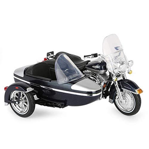 HXGL-Drum Compatible con Harley-Davidson 1998 Sidecar Triciclo Motocicleta Modelo de plástico Kit Simulación Aleación estática Decoración Colección Juguete Regalo para niño Niño