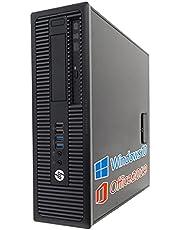 HP デスクトップPC 600G1/MS Office 2019/Win 10/Core i3-4130/HDMI/wajunのWIFI/Bluetooth/DVD-RW/4GB/256GB SSD (整備済み品)