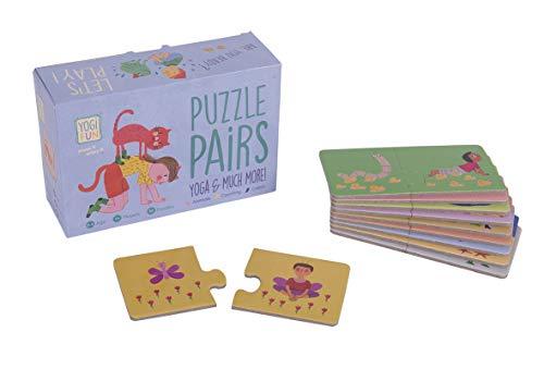 Lúdilo Puzzle ninos Cartas, juguemos a Hacer Familia, Juego Yoga para niños, Color Azul YF-006