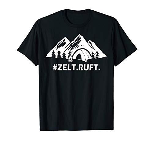 Zelt ruft Berg Natur Mountain Panorama Sport Gebirge T-Shirt