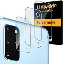 [ 3 Pack] UniqueMe Camera Lens Protector for Samsung Galaxy S20 Plus 5G / 4G Screen Protector Tempered Glass [Ultra-Thin] Case Friendly Easy Installation【6.7 Inch】