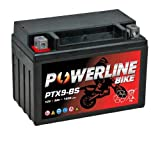 PTX9-BS Powerline Motorcycle Battery 12V 9Ah