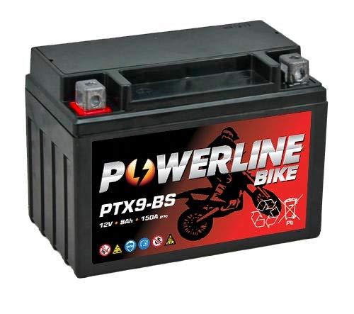 PTX9-BS Powerline Motorcycle Battery 12V 9Ah