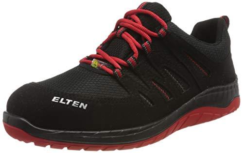 ELTEN Maddox Black-Red Low S3 - Zapatos de Seguridad para Hombre, Deportivos, Ligeros,...