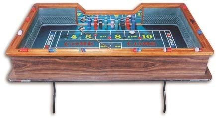 ACEM Casino supplies 80 Inch Professional Single Dealer Craps Table - Made in The USA