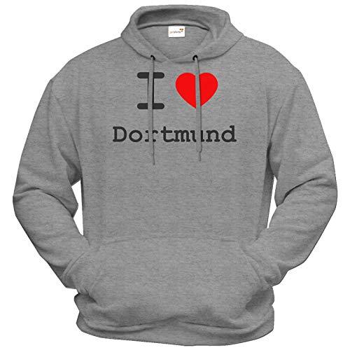 getshirts - Best of - Hoodie - Love - I Love Dortmund - Graumeliert XXXL