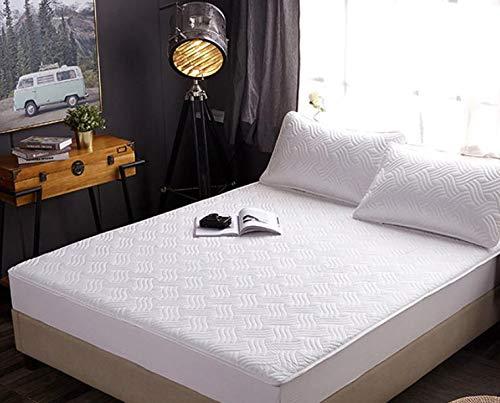 YMXMXP Funda protectora de colchón doble suave y cómoda, borde elástico de 360 grados, diseño antideslizante, 1 paquete (90 x 200 cm), color blanco