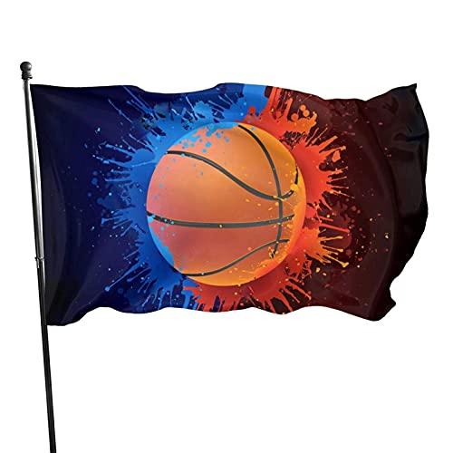 GOSMAO Bandera de jardín Jugar Baloncesto acuático Color Vivo y Resistente a la decoloración UV Bandera de Patio Cosida Doble Bandera de Temporada Banderas de Pared 150X90cm