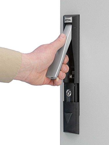 Rittal Klapphebelgriff cm 5001.062 f. Vorhängeschloss Komponente für Tür (Schaltschrank) 4028177502246
