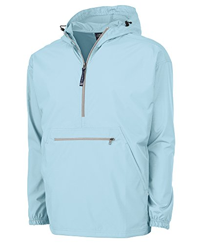 Charles River Apparel Pack-N-Go Wind & Water-Resistant Pullover (Reg/Ext Sizes), Aqua, XL