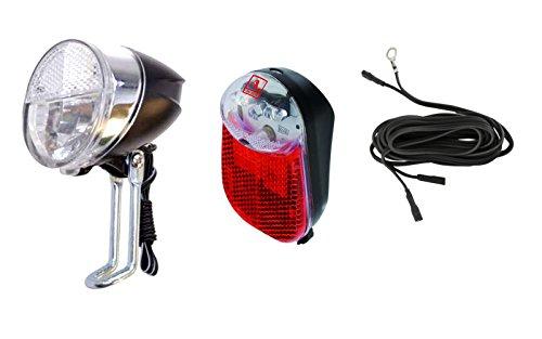 Filmer/Anlun LED Beleuchtungsset mit Helligkeitssensor vorne und Standlicht hinten für Fahrräder
