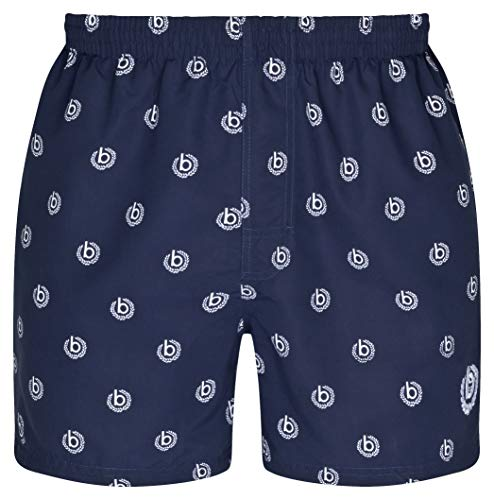 bugatti® - Herren Badeshort in Marineblau, türkis oder schwarz (L, Navy (bugatti Logo))