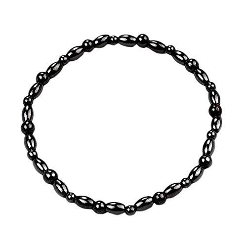 #N/D Moda piedra magnética pierna tobilleras pulsera hombres mujeres negro tobillo pulsera regalos perder peso pies pulsera joyería